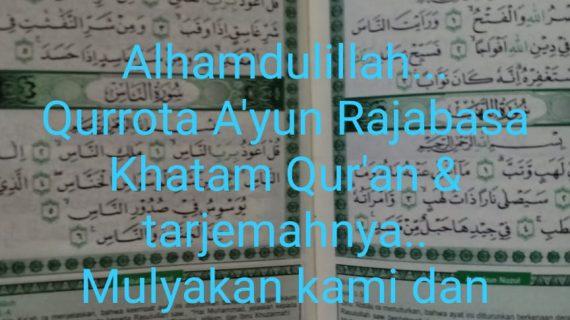 Kegiatan Qur'an Time TK IT Qurrota A'yun Rajabasa Hatam 30 Juz Al-Qur'an